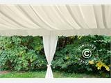 Marquee lining and leg curtain pack, white, for 4x8 m marquee - 9