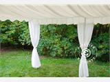 Marquee lining and leg curtain pack, white, for  4x10 m marquee - 8