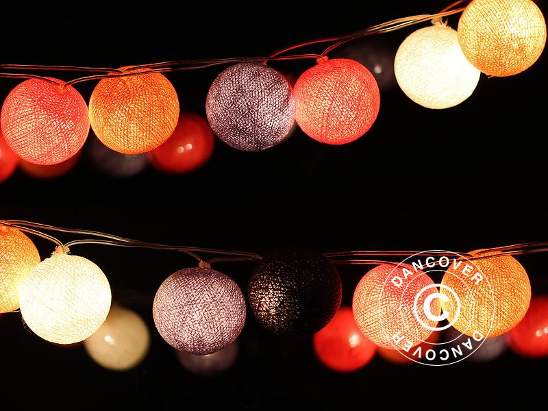 Velsete Happy Lights lyskæde, 35 kugler, multi farvet - Dancovershop DK ID-58