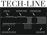 LED-Lichterkette Startset, Tech-Line, 4,5m, Warmweiß - 2