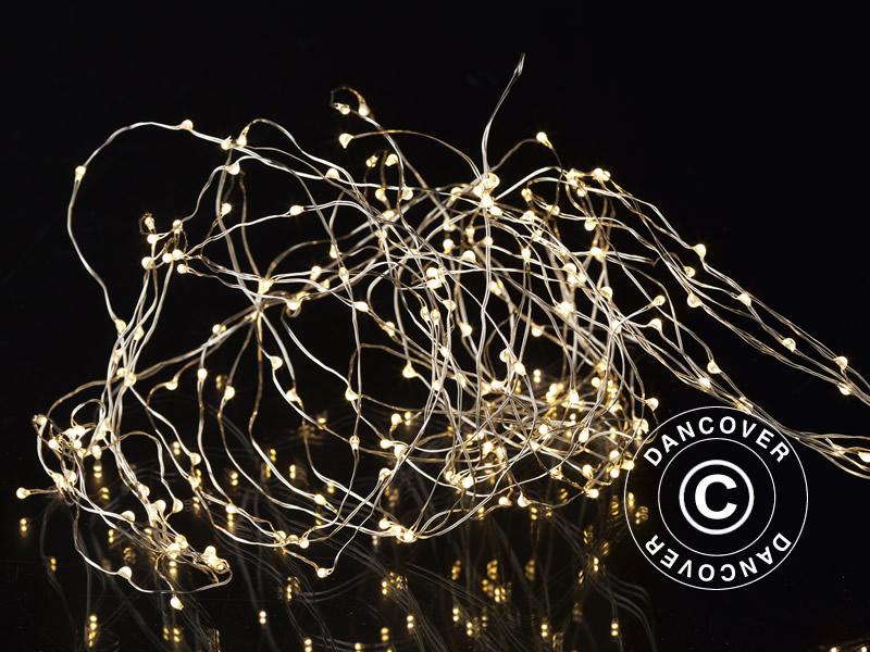 LED Lyskæde, Knirke, Sirius, 15x1,5m, Varm Hvid - Dancovershop DK