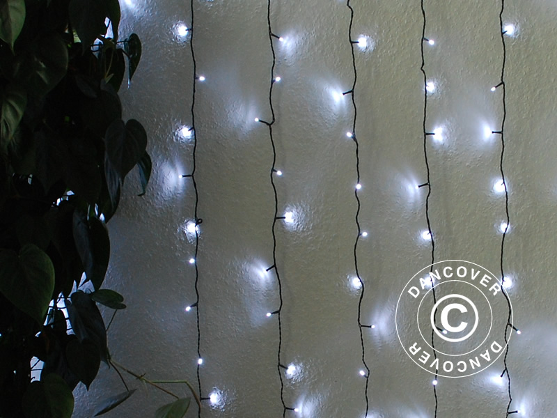Tenda luminosa led m bianco freddo dancovershop it