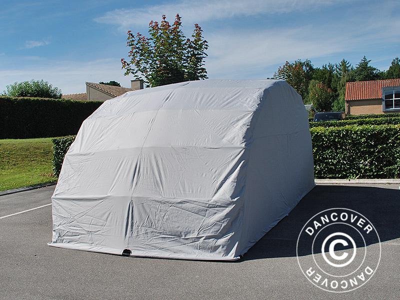 Folding garage (Car), 2.6x5.8x2.1 m, Grey - Dancovershop UK