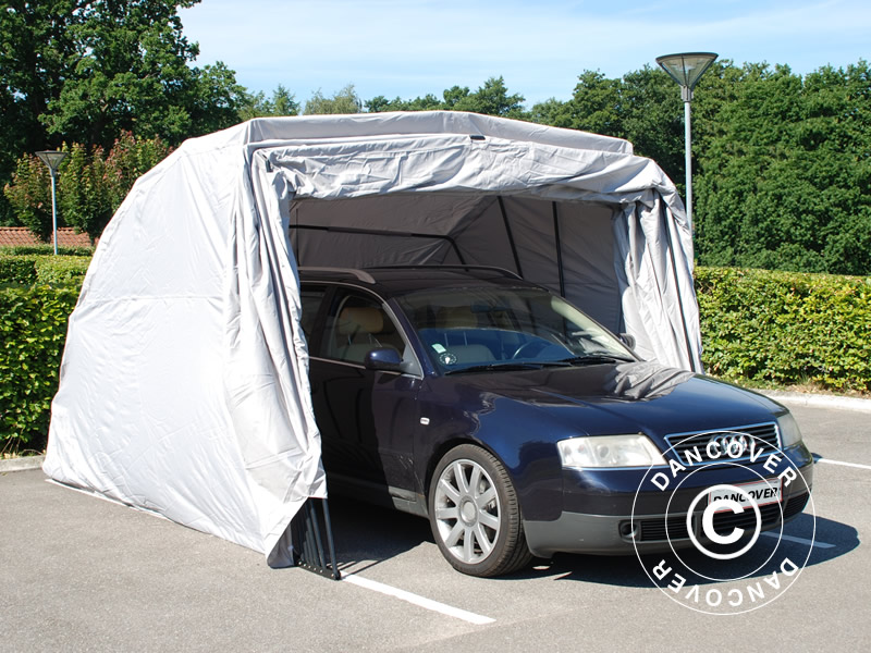 Garaż Składany Samochodowy 2 8x6 24x2 3m Szary