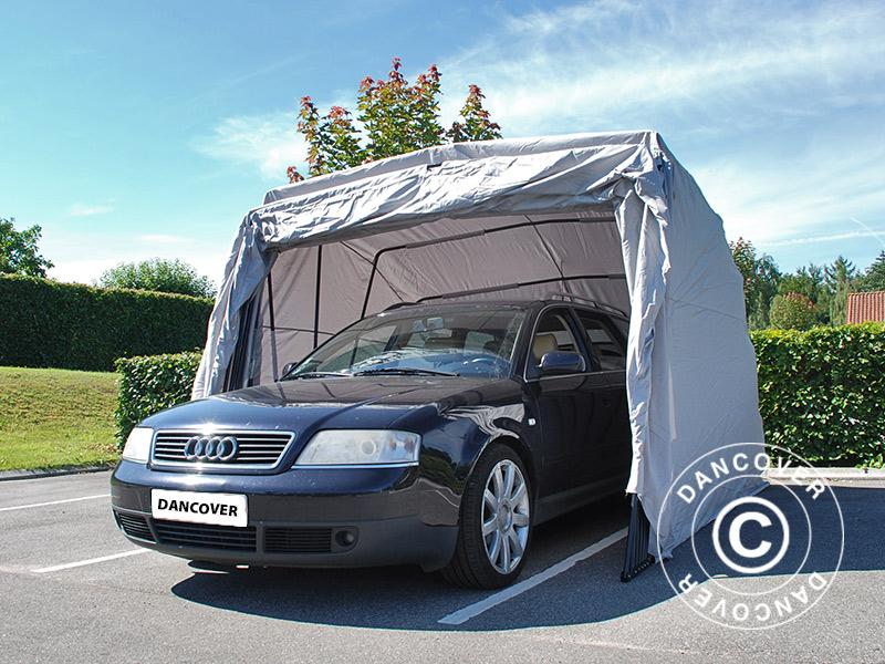 Gara sk adany samochodowy 2 8x6 24x2 3m szary for Garage per 2 auto personalizzate