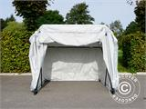 Folding garage (MC), 1.88x3.45x1.9 m, Grey - 1