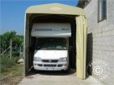 Folding tunnel garage (Caravan), 3.5x7.21x3.9 m, Beige - 1