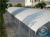 Abri tunnel pour piscine, pliable, 5x7,21x2,65m, Blanc/Transparent - 2