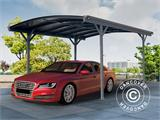 Carport Boston, 3x4.34 m, Dark Grey - 2