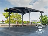 Carport Boston, 3x4.34 m, Dark Grey - 3