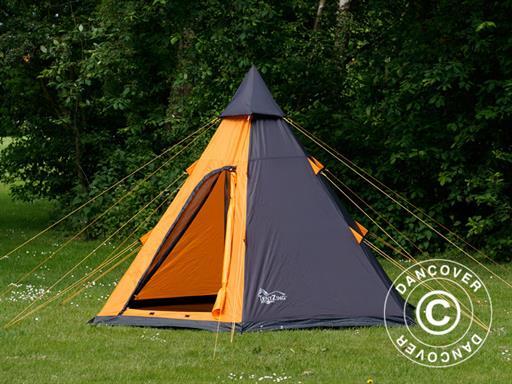 Campingzelt Teepee TentZing® Orange//Dunkelgrau 4 Personen