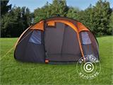 Camping tent pop-up, FlashTents®, 4 persons, Medium, Orange/Dark Grey - 2