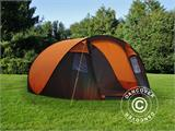 Camping tent pop-up, FlashTents®, 4 persons, Medium, Orange/Dark Grey - 3
