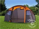 Camping tent pop-up, FlashTents®, 4 persons, Medium, Orange/Dark Grey - 5