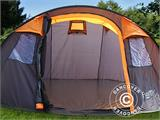 Camping tent pop-up, FlashTents®, 4 persons, Medium, Orange/Dark Grey - 6