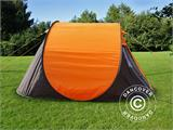 Camping tent pop-up, FlashTents®, 4 persons, Medium, Orange/Dark Grey - 7