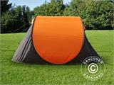 Camping tent pop-up, FlashTents®, 4 persons, Medium, Orange/Dark Grey - 8