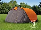Camping tent pop-up, FlashTents®, 4 persons, Medium, Orange/Dark Grey - 10