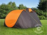 Camping tent pop-up, FlashTents®, 4 persons, Medium, Orange/Dark Grey - 11