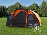 Camping tent pop-up, FlashTents®, 4 persons, Medium, Orange/Dark Grey - 12