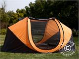 Campingtelt Pop-up, FlashTents®, 4 personer, Large, Orange/Mørkegrå - 1