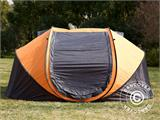 Campingtelt Pop-up, FlashTents®, 4 personer, Large, Orange/Mørkegrå - 4