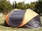 Campingtelt Pop-up, FlashTents®, 4 personer, Large, Orange/Mørkegrå - 5