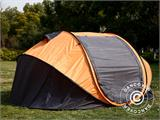 Campingtelt Pop-up, FlashTents®, 4 personer, Large, Orange/Mørkegrå - 6