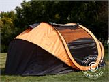 Campingtelt Pop-up, FlashTents®, 4 personer, Large, Orange/Mørkegrå - 7