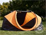Campingtelt Pop-up, FlashTents®, 4 personer, Large, Orange/Mørkegrå - 10
