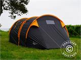 Camping tent, TentZing® Tunnel, 4 persons, Orange/Dark Grey  - 11