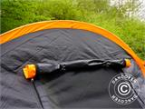 Camping tent, TentZing® Tunnel, 4 persons, Orange/Dark Grey  - 26