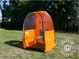 All Weather Pod/Football Mom pop-up tent, FlashTents®, 1 person, Orange/Dark grey - 9