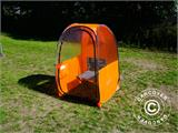 All Weather Pod/Football Mom pop-up tent, FlashTents®, 1 person, Orange/Dark grey - 14