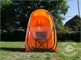 All Weather Pod/Football Mom pop-up tent, FlashTents®, 1 person, Orange/Dark grey - 16