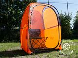 All Weather Pod/Football Mom pop-up tent, FlashTents®, 1 person, Orange/Dark grey - 17