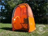 All Weather Pod/Football Mom pop-up tent, FlashTents®, 1 person, Orange/Dark grey - 18