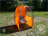 All Weather Pod/Football Mom pop-up tent, FlashTents®, 1 person, Orange/Dark grey - 19