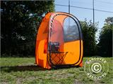 All Weather Pod/Football Mom pop-up tent, FlashTents®, 1 person, Orange/Dark grey - 20