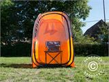 All Weather Pod/Football Mom pop-up tent, FlashTents®, 1 person, Orange/Dark grey - 21