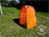 All Weather Pod/Football Mom pop-up tent, FlashTents®, 1 person, Orange/Dark grey - 25