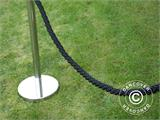 Twisted rope for rope barriers, 150 cm, Black and Silver Hook  - 7