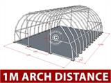 Arched Storage tent 9.15x12x4.5 m, PVC, White - 6