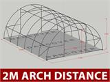 Arched Storage tent 9.15x12x4.5 m, PVC Green - 7