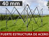 Carpa plegable FleXtents Steel 3x6m Negro, incluye 6 cortinas decorativas - 1