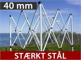Foldetelt FleXtents Steel 3x6m Sort, inkl. 4 sider - 1