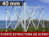Carpa para visitas FleXtents Steel 3x6m Blanco. Se incluyen 4 muros laterales y 1 tabique transparente - 1