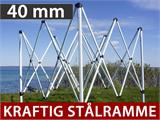 Quick-up telt FleXtents Steel 4x8m Hvit, inkl. 4 sider - 2