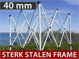 Vouwtent/Easy up tent FleXtents Steel 4x6m Wit, inkl. 4 Zijwanden - 1