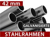 "Partyzelt Exclusive 6x12m PVC, ""Arched"", Weiß - 9"